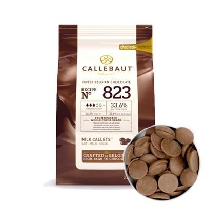Шоколад молочный Barry Callebaut в галетах 200 гр