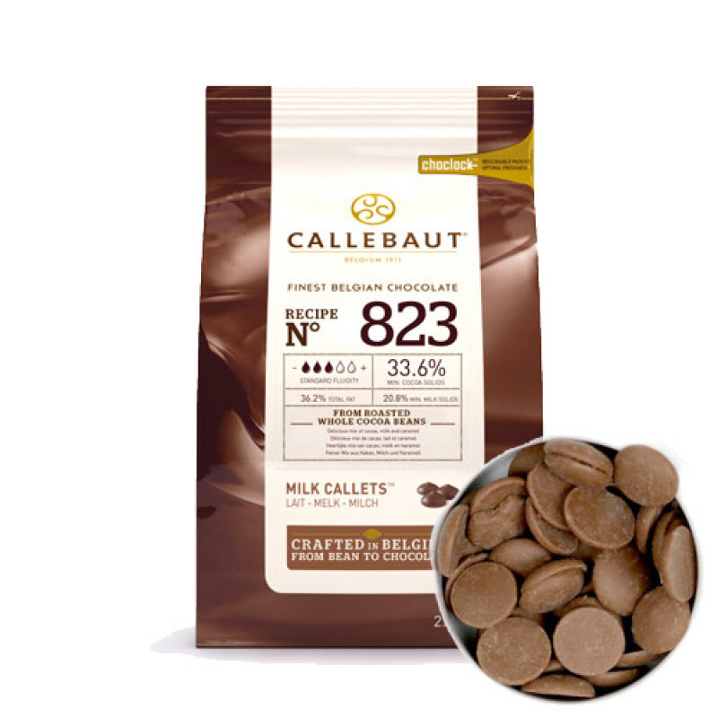 Шоколад молочный Barry Callebaut в галетах 2,5 кг