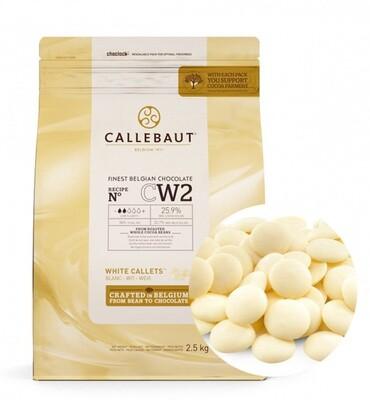 Шоколад белый Barry Callebaut в галетах 2,5 кг