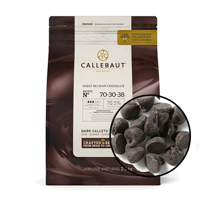 Шоколад  Barry Callebaut 70,4%  горький в галетах 200 гр