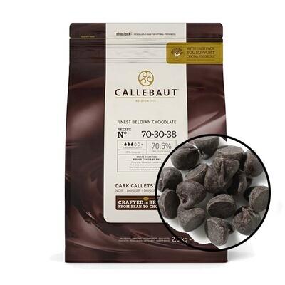 Шоколад  Barry Callebaut 70,4%  горький в галетах 500 гр