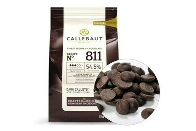 Шоколад  Barry Callebaut 54,5% темный в галетах 200 гр