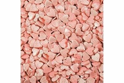 Посыпка сердечки розовые перламутровые 100 гр