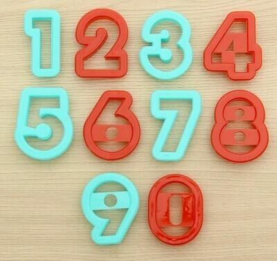 """Набор форм для печенья 5х4 """"Цифры"""", 10 шт пластик"""