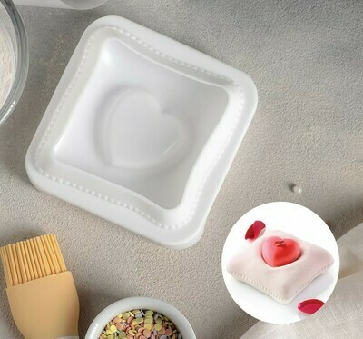 """Форма для муссовых десертов и выпечки 12×11,4 см """"Любовь в квадрате"""""""