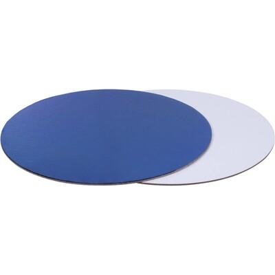 Подложка для торта двусторонняя (синяя, белая) d 26 см толщ. 2,5 мм