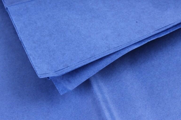 Бумага тишью Синяя 50х66 см (10 листов)