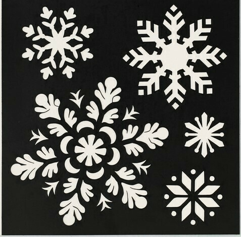 Трафарет  «Снежинки», 15 × 15 см