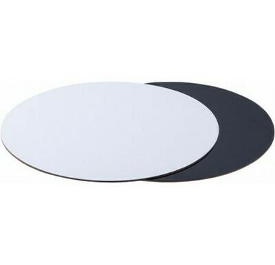 Подложка для торта двусторонняя (черная, белая) d 26 см толщ. 2,5 мм