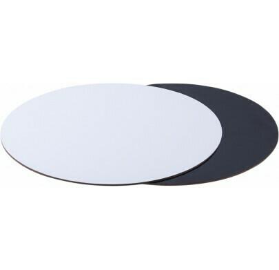 Подложка для торта двусторонняя (черная, белая) d 30 см толщ. 2,5 мм