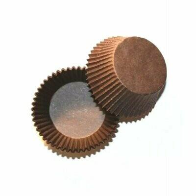 Тарталетка (капкейк) коричневая 50х35мм. 100 шт.
