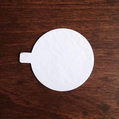 Подложка для пирожного с держателем d8 белый см