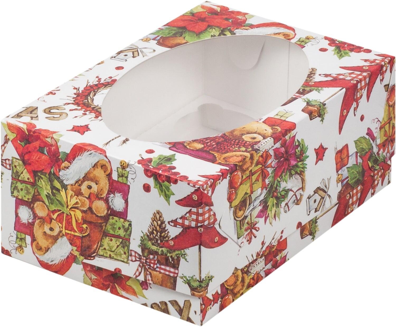коробка для 6 капкейков XMAS 235х160х100