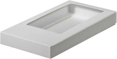 Коробка для плитки шоколада белая 18х9х1.7 см