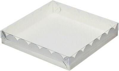 Коробочка для печенья 15х15х3 см белая