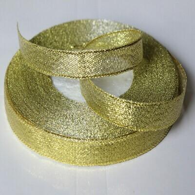 Лента атласная 12 мм Золото