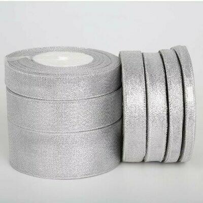 Лента атласная 12 мм Серебро