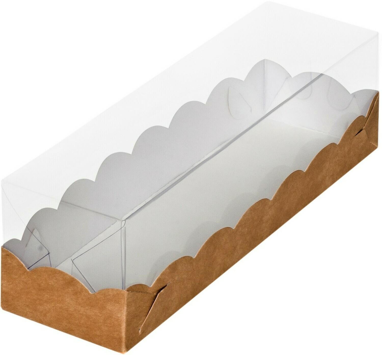 Коробочка на 6 макаронс ПРЕМИУМ с прозрачной крышкой