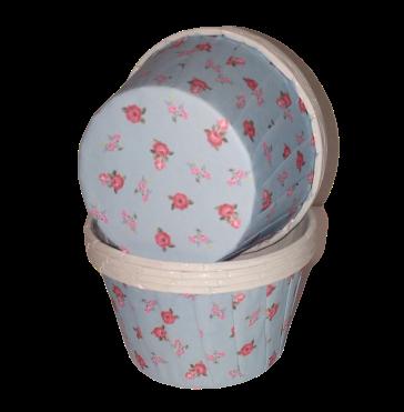 Капсула усиленная Мини розы на голубом  1 шт