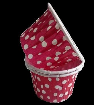 Капсула усиленная Розовая в белый горох 1 шт