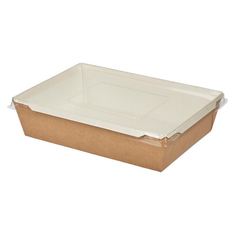 Коробочка для сладостей с прозрачной крышкой.  20х14х5,5см 1000 мл.