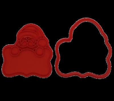 Форма для пряников с оттиском Санта с табличкой