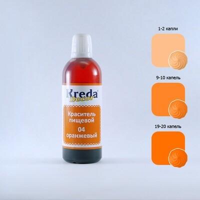 Краситель гелевый пищевой Оранжевый 25 г Kreda