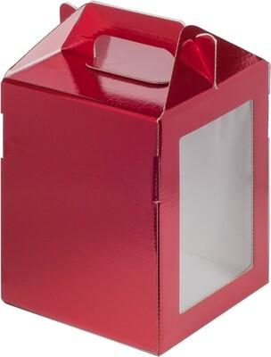 Коробка под пряничный домик и кулич,160*160*200 мм (КРАСНАЯ)