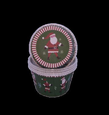 Капсула для капкейка усиленная темно-зеленая Санта