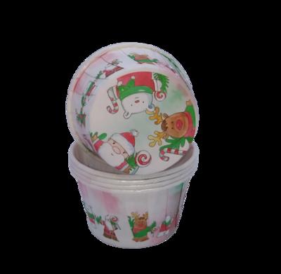 Капсула для капкейка усиленная новогодняя мишка/Санта/олень