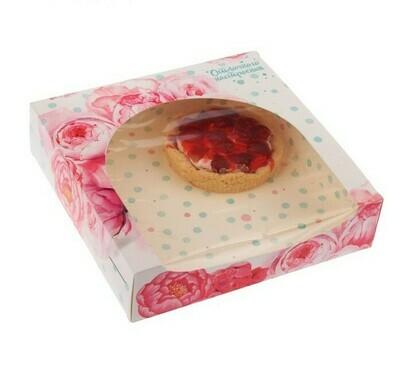 Коробочка для пирожных «Отличного настроения», 20 х 20 х 5 см