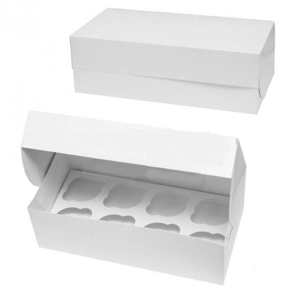 Упаковка для 8 капкейков без окна. 33х16х11 см