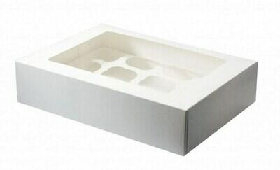 Упаковка для 8 капкейков с окном. 33х16х11 см