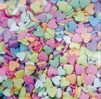 Сердечки разноцветные. 100 гр