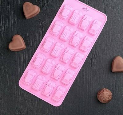 Форма для мастики и шоколада 20 ячеек 22x10x1,8 см