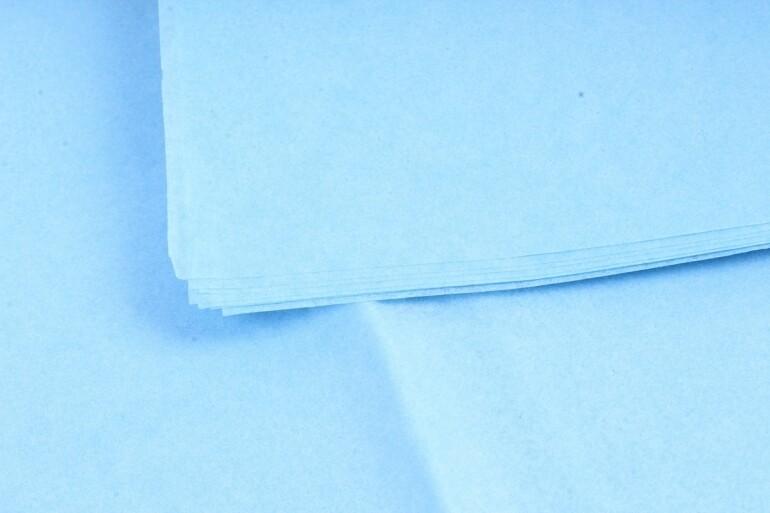 Бумага тишью Голубая 50х66 см (10 листов)