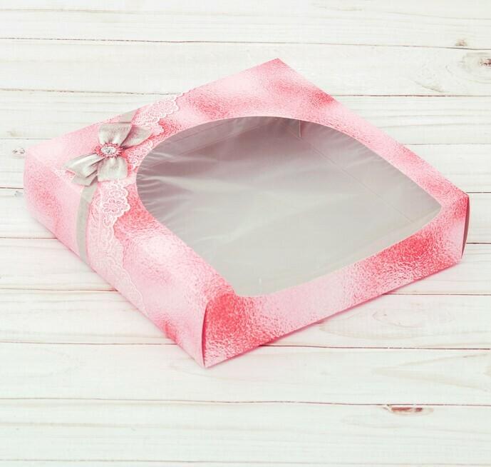 Коробка для пирожных  «Для тебя», 20 × 20 × 5 см