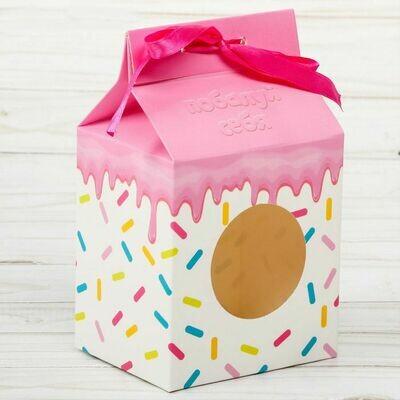 Коробочка под десерт «Вкусный подарок», 8 × 10 × 16 см