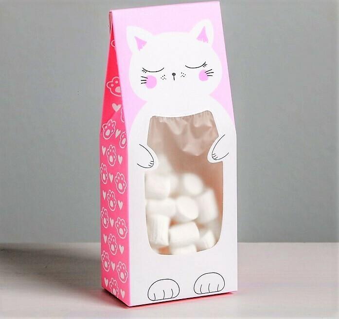 Мини-коробочка для сладостей «Кот», 6 × 14,5 × 3,5 см