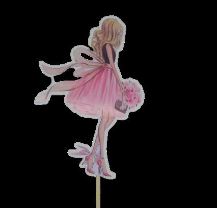 Топпер Девушка акварельная акрил.