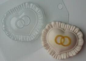 Форма пластиковая Сердце с кольцами