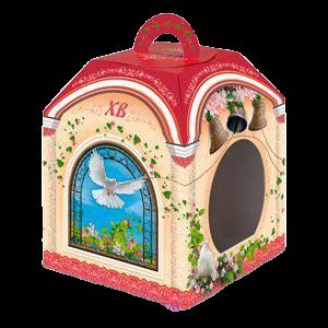 Коробка под кулич колокола с окном - 140х140х140 мм