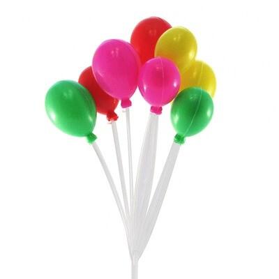 Топпер Воздушные шары (пластик), 17×8×4,5 см, цвет МИКС
