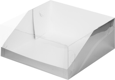 Коробка под торт с прозрачной крышкой 235х235х100