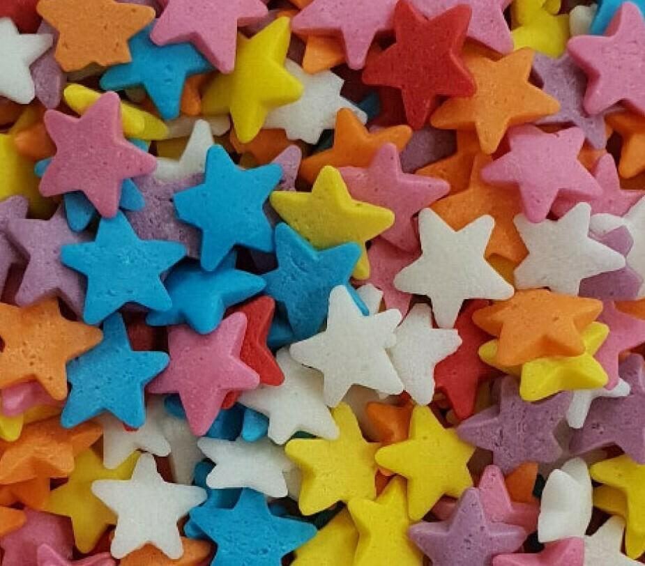 Посыпка звезды разноцветные 100 гр