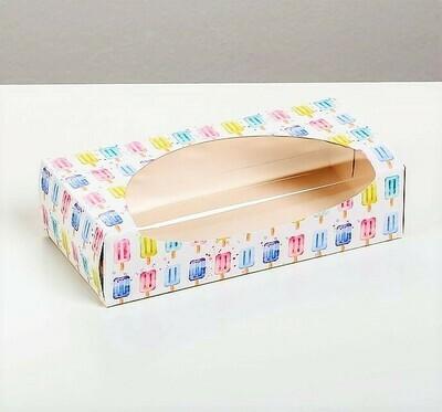 Коробочка для пирожных «Эскимошки», 10 х 20 х 5 см