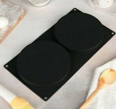 Форма для начинок 335×180×20мм, 2 ячейки (d160 мм)