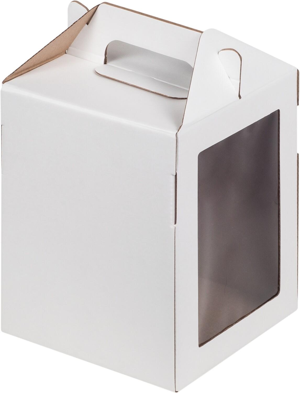 Коробка под пряничный домик и кулич,160*160*200 мм (БЕЛАЯ)