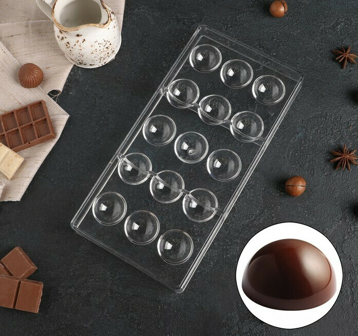 Форма для конфет поликарбонат «Полусфера - 3.5см», 28×14 см