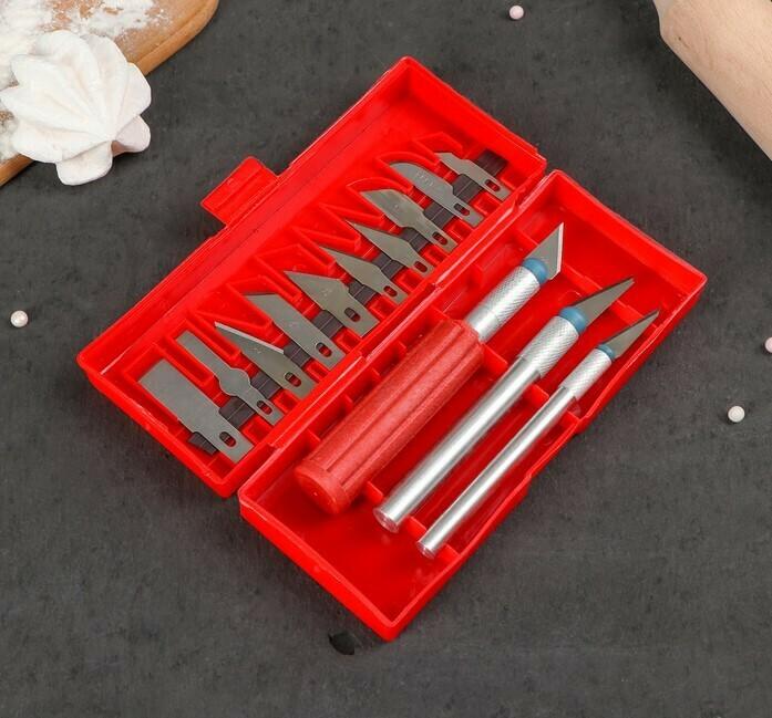 Набор кондитерских скальпелей. 13 предметов цвет МИКС